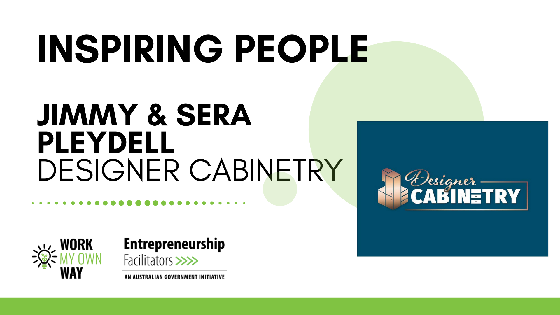 Inspiring People - Jimmy & Sera from Designer Cabinetry