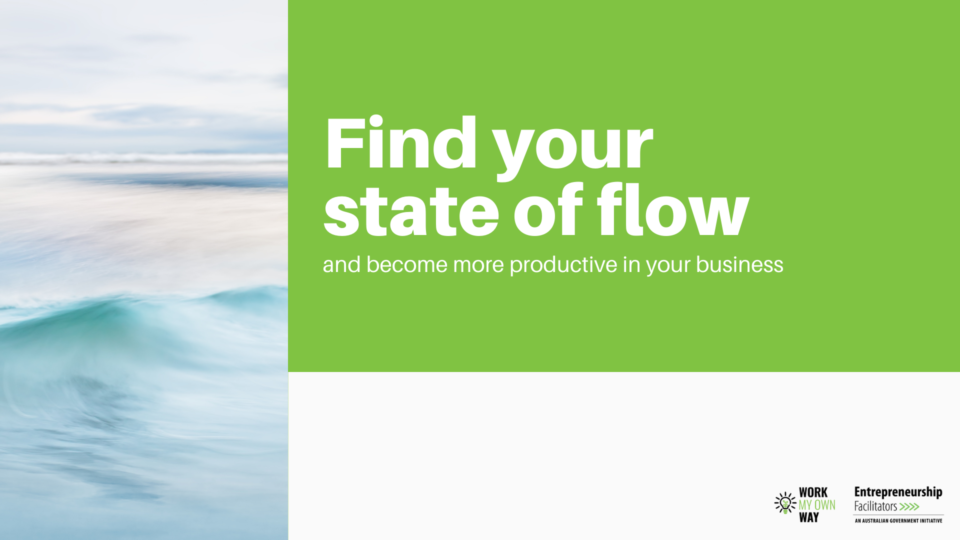 Find your flow in business